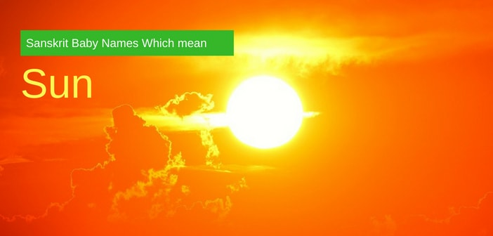 baby names meaning sun
