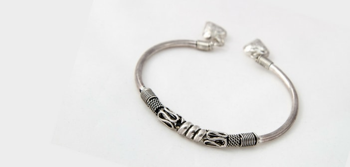 silver kada bangle for baby