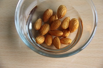 almond in water