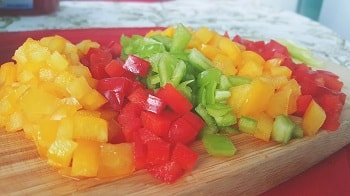 finely chopped bell peppers