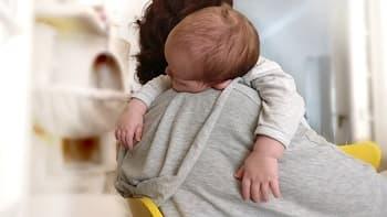 burping a baby