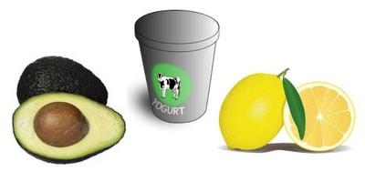 avocado yogurt lemon facemask