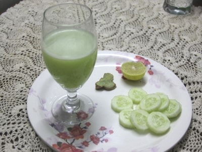 cucumber ginger lemon juice