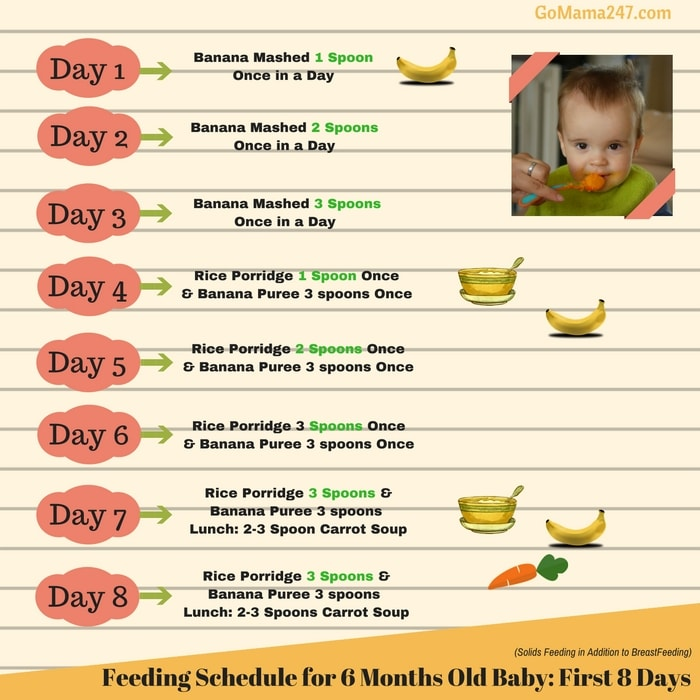 Month Baby Food Chart In India