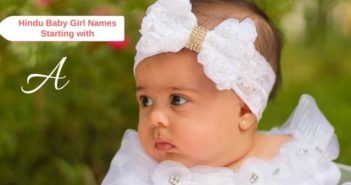 hindu baby girls names starting with a