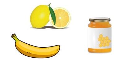 lemon honey banana mask