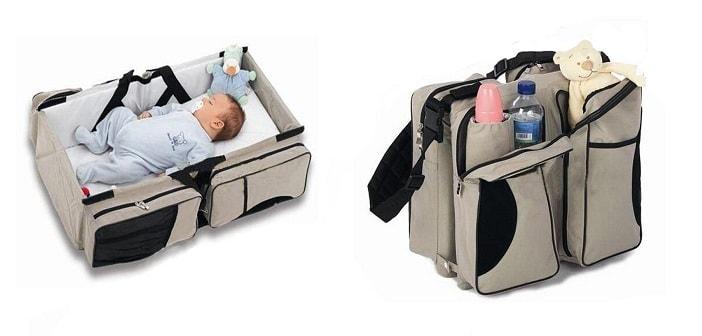 magical baby bed cum diaper bag
