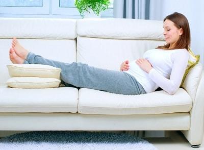 resting postpartum