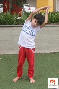 crescent pose kids yoga