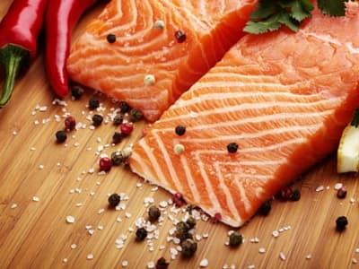 salmon cut